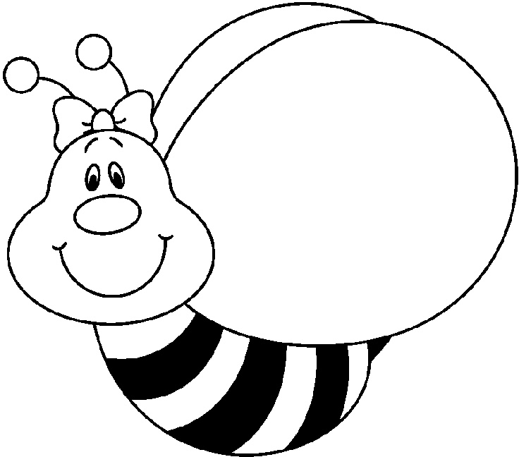 Bee black and white bee clipart black and white 3.