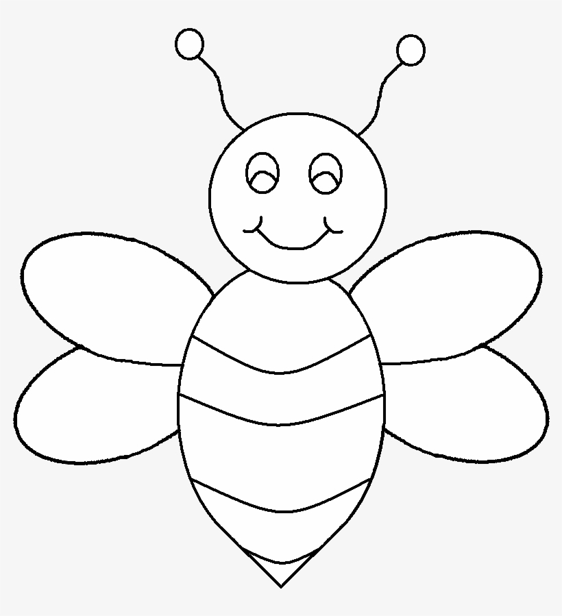Black And White Bee Clip Art.