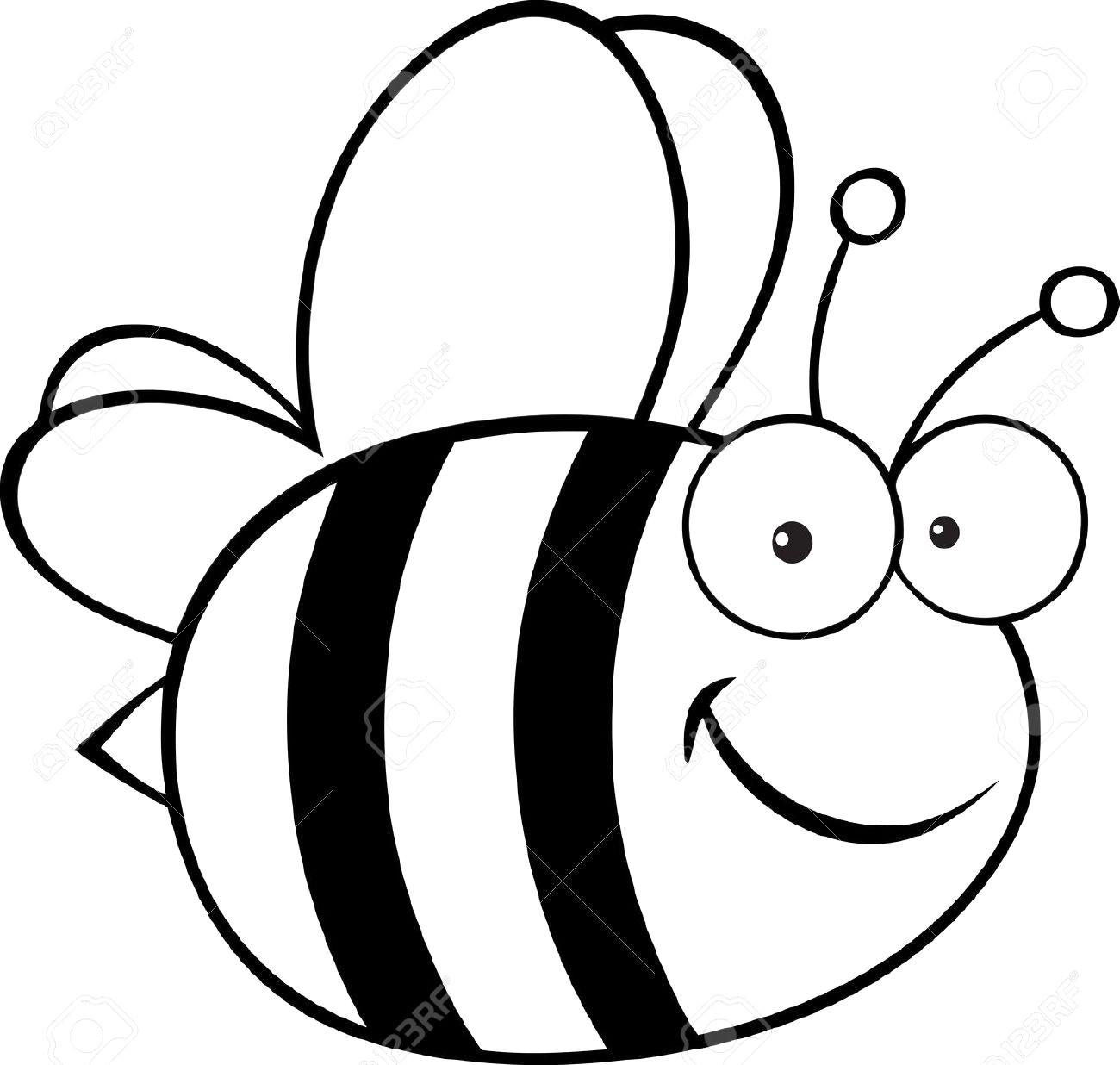 Free bee clipart black and white 4 » Clipart Station.