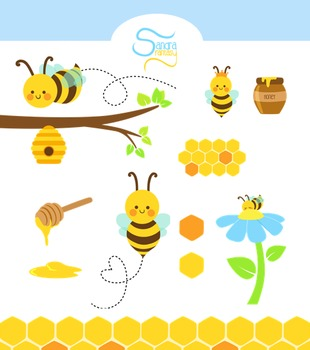 Honey Bee clip art.