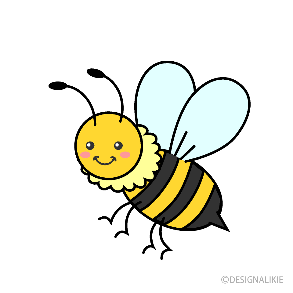 Free Cute Bee Clipart Image|Illustoon.