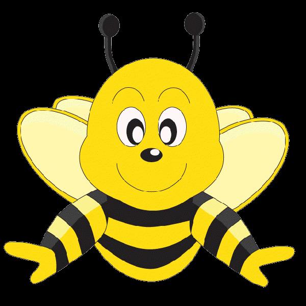 Funny Cartoon Valentine Love Heart Honey Bees Cartoon PNG.Clip Art.