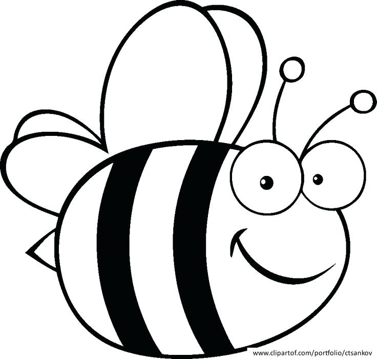 Spelling Bee Drawings Clip Art Line Cartoon Free Cute Bumble Easy.