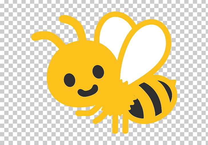 Honey Bee Emoji Android GitHub PNG, Clipart, Android, Bee.