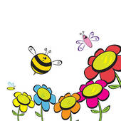 Bee Flower Clip Art.