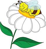 Bee Flower Clip Art.