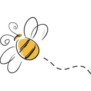 Bumble bee honey bee clipart image cartoon honey bee flying around.