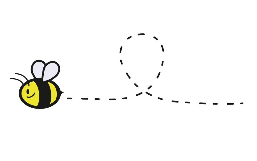 96+ Bee Flying Clipart.
