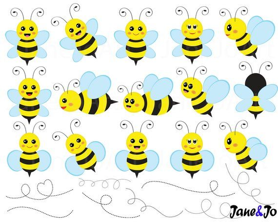 62 Bee Clipart , bees Clipart, Honey bees clip art , Bee cliparts.