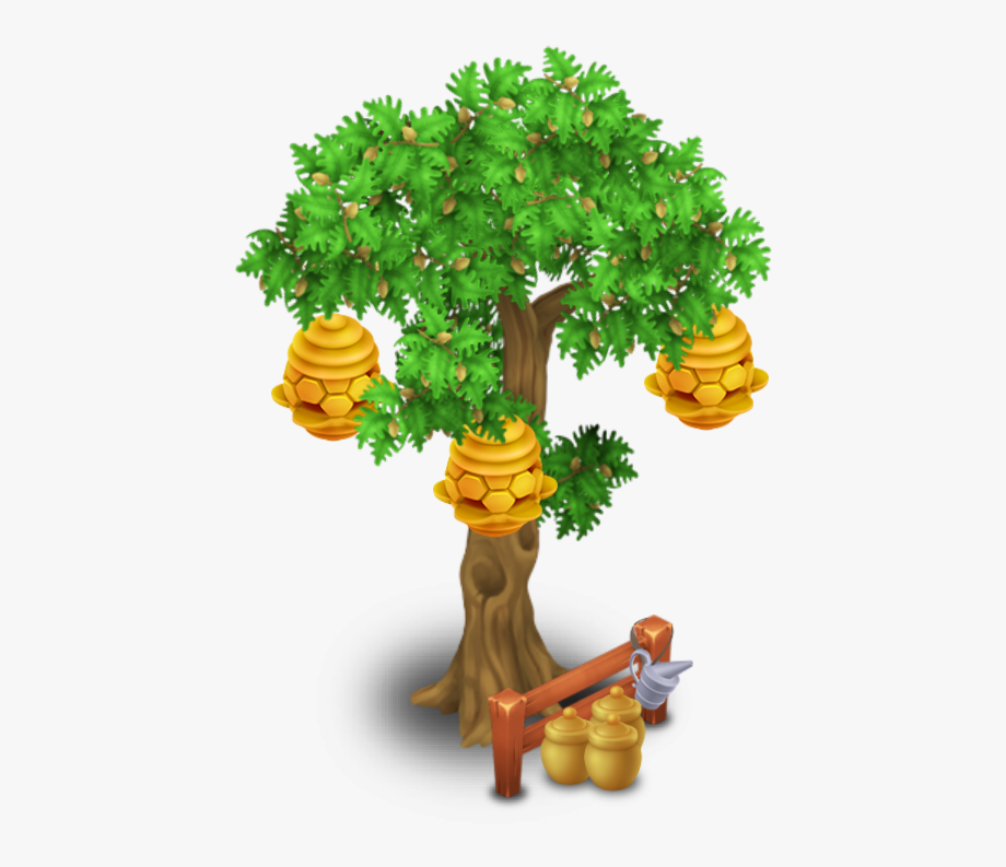 Beehive In Tree Clipart.