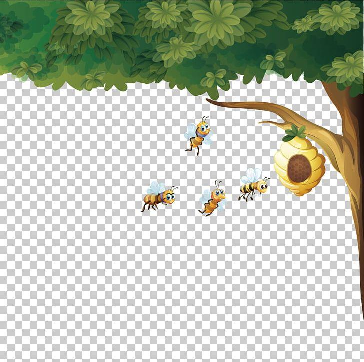 Beehive Honey Bee Euclidean PNG, Clipart, Apis Florea, Bee.