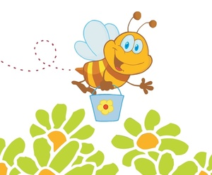 Bee and honey clipart.