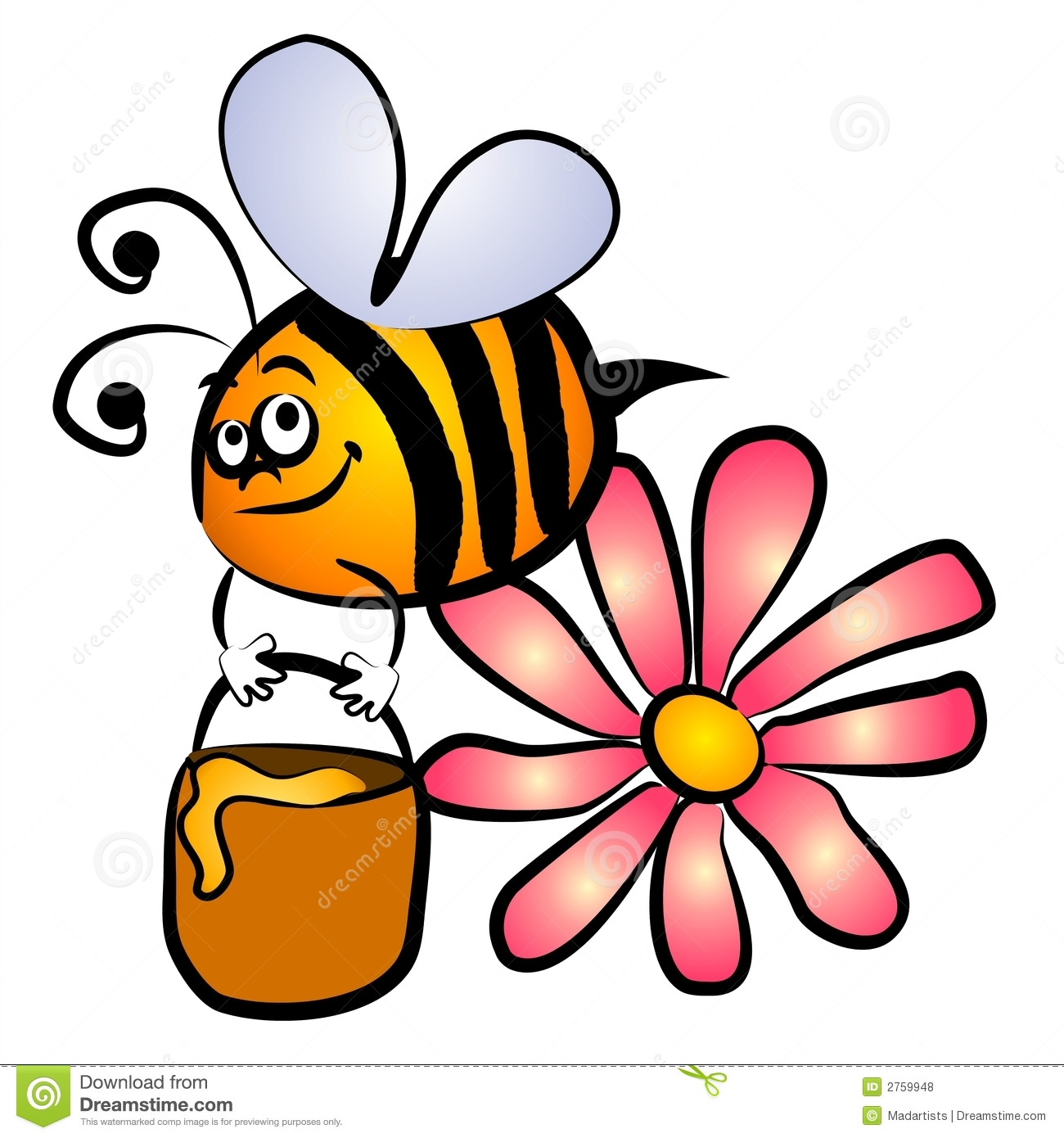 Bumble Bee Honey Clip Art Royalty Free Stock Photos.