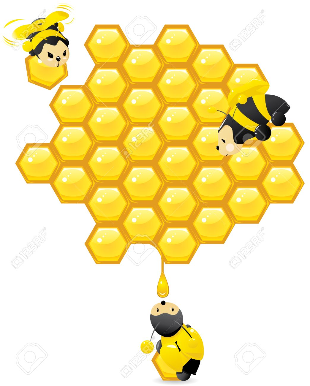 407 Honeycomb free clipart.
