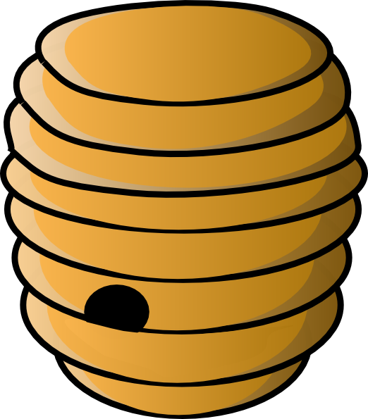 Bee Hive Outline Clipart.