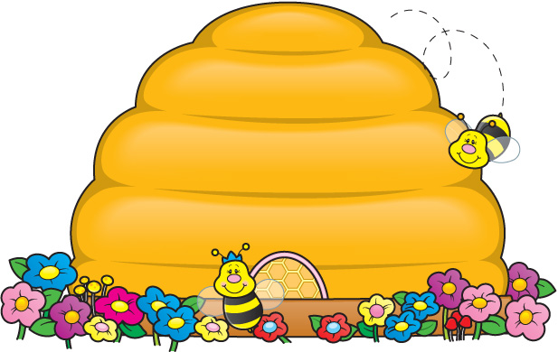 Free clipart bee hive.