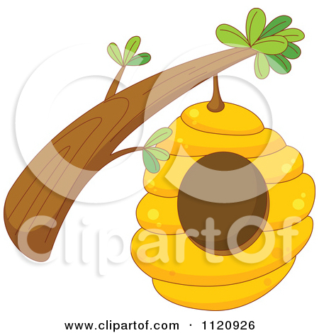 Angry Bee Hive Clipart