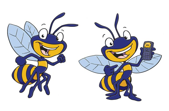 Bee in the approach clipart #2