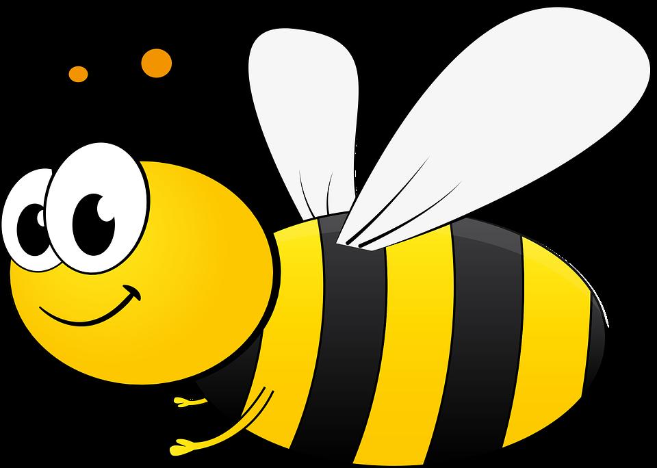 Free vector graphic: Bee, Bi, Cartoon, Honey, Insect.