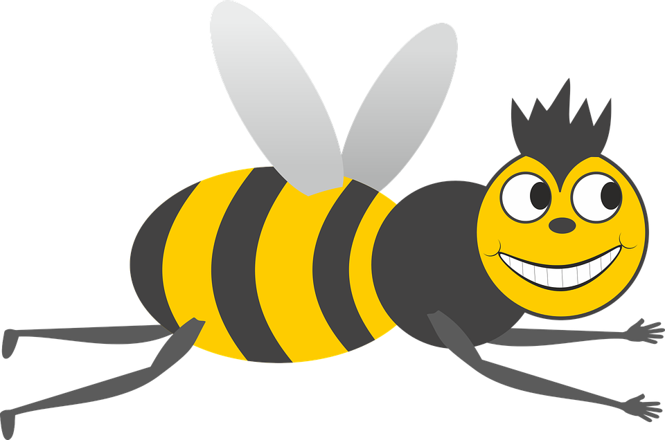 Free vector graphic: Bee, Hummel, Insect, Grin, Fly.
