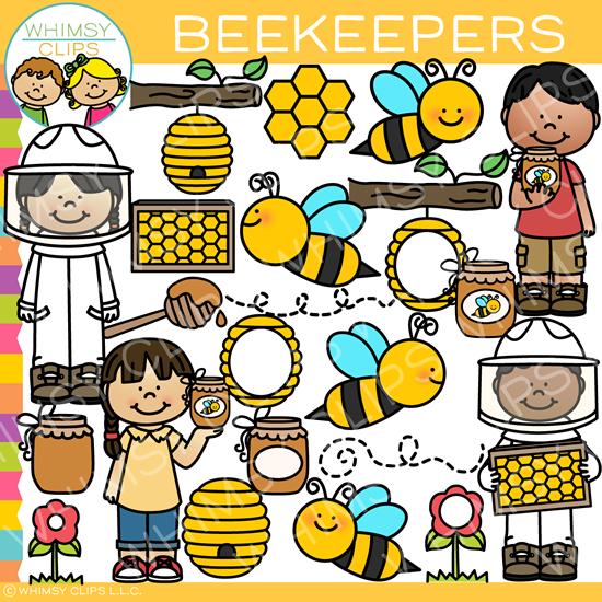 Spring Beekeepers Clip Art.