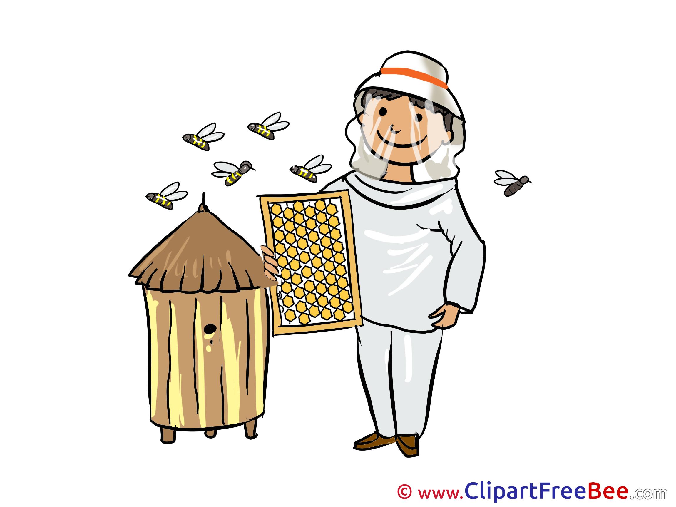 Beekeeper Clipart.