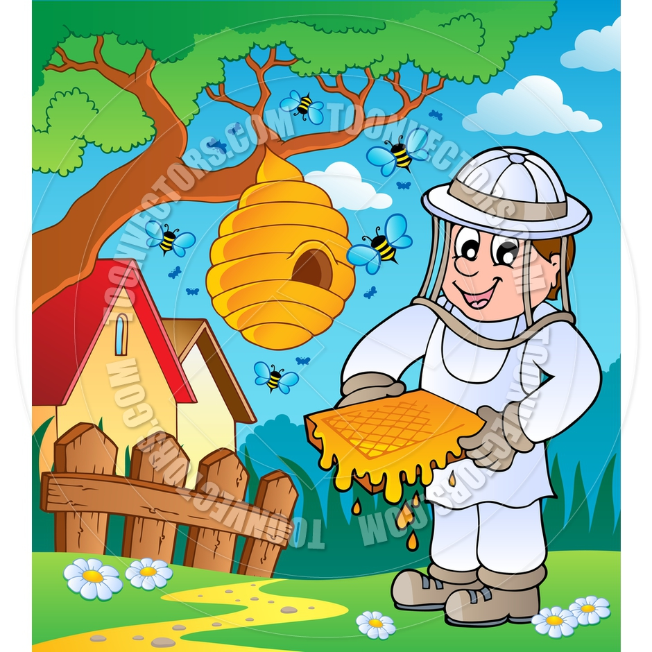 Bee keeper clipart free.