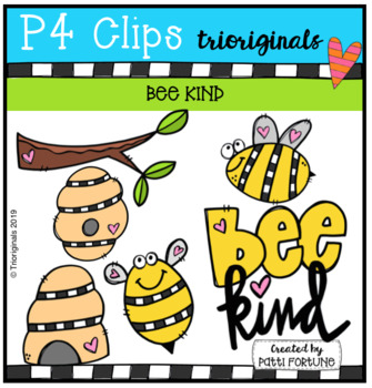 Bee Kind BUNDLE (P4 Clips Trioriginals) KINDNESS CLIPART.