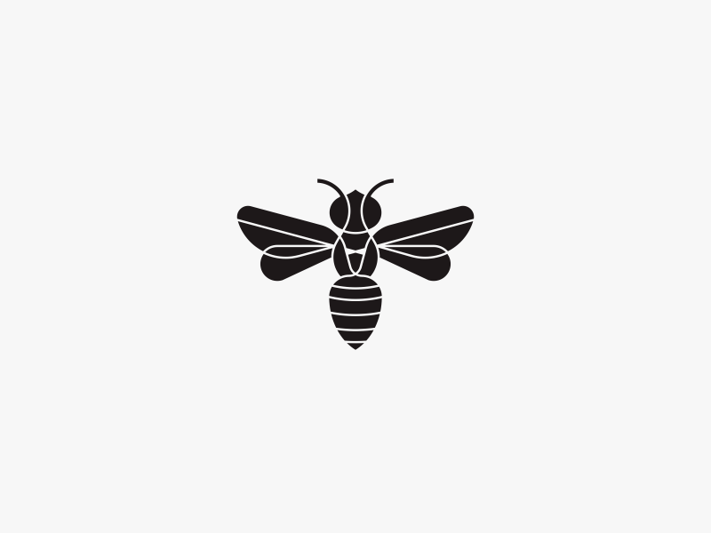 Handsome bee logo by Catur Argi on Dribbble.