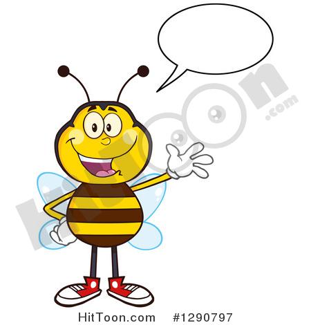 Bee Mascot Clipart #1.