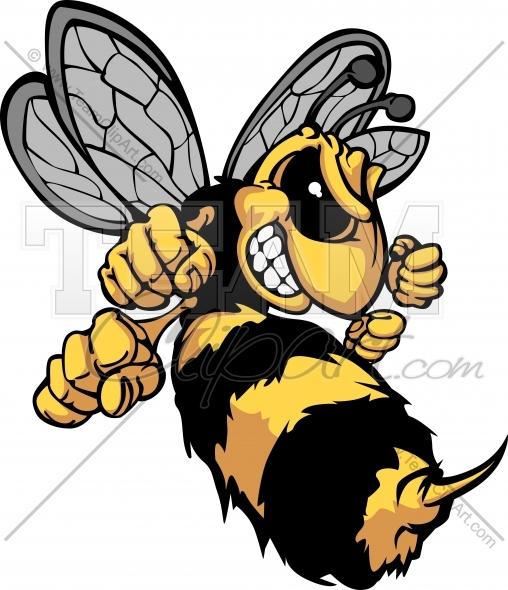 Bee Mascot Clipart Cartoon Image. Easy to Edit Vector Format..