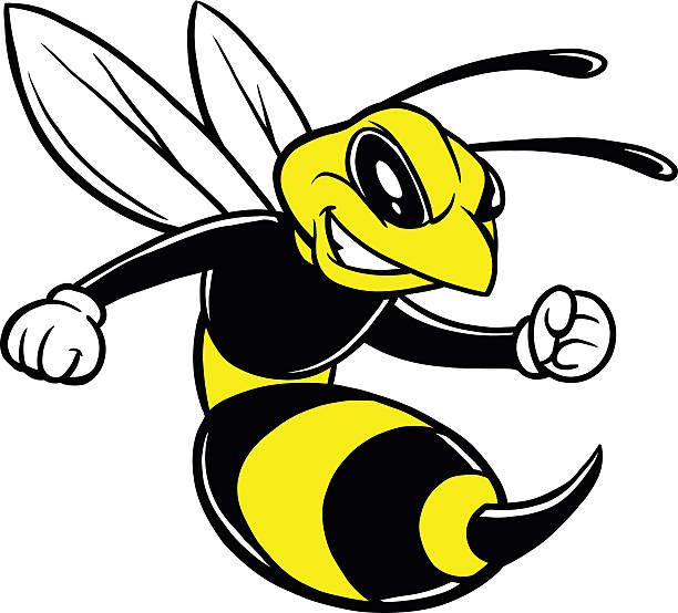 Mascot Bee Fighting Insect Clip Art, Vector Images & Illustrations.