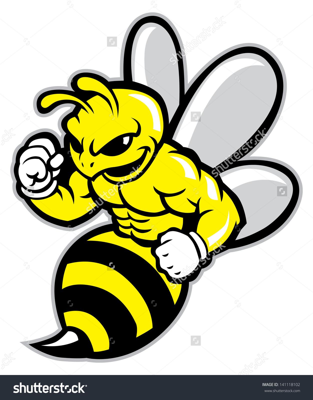 Bee Mascot Stock Vector 141118102.