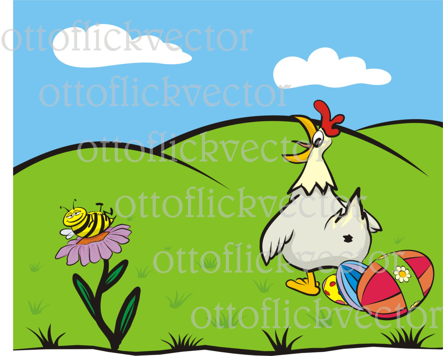 HAPPY EASTER CARD vector clipart eps, ai, cdr, png, jpg, spring.