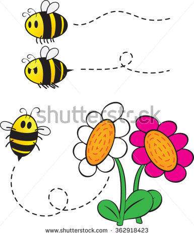 Bee Flower Stock Vectors, Images & Vector Art.