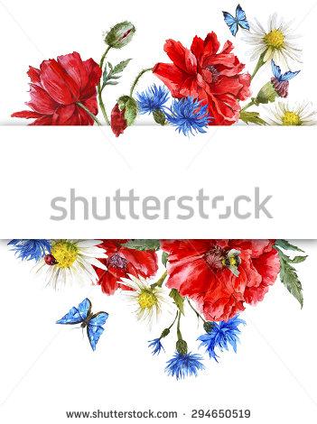 Bumblebee Poppy Flower Stock Photos, Royalty.