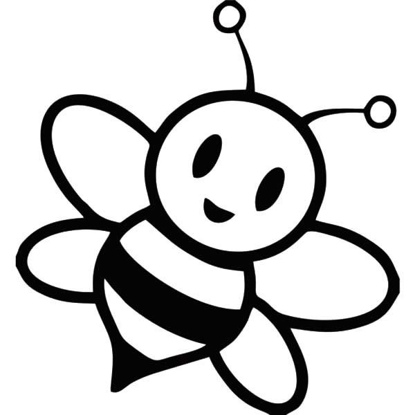 Bee Outline Clip Art.