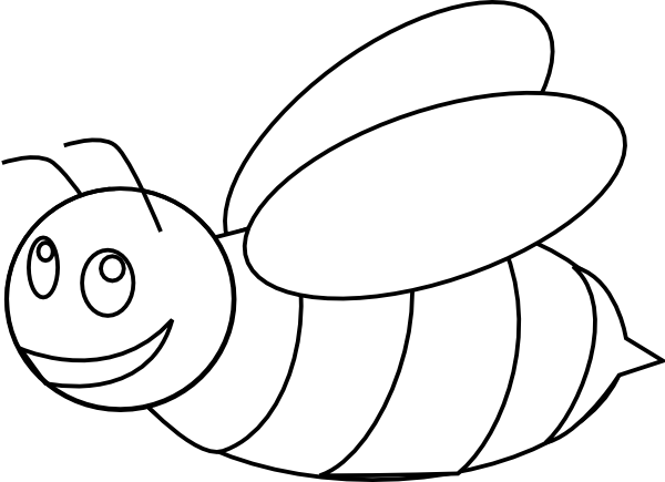Bumble Bee Outline Clip Art at Clker.com.