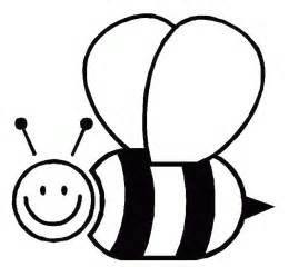 BEE CLIPART OUTLINE.