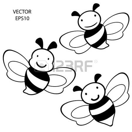 1,796 Bee Outline Stock Vector Illustration And Royalty Free Bee.