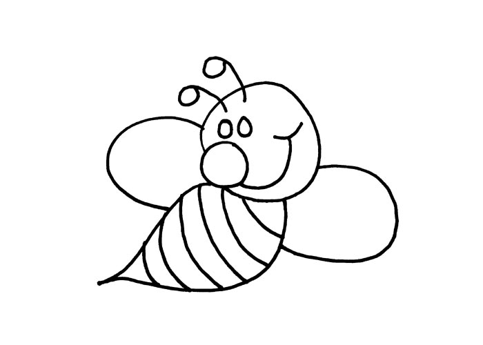 Bee Outline.