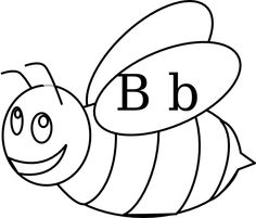 Bumble Bee Outline clip art.