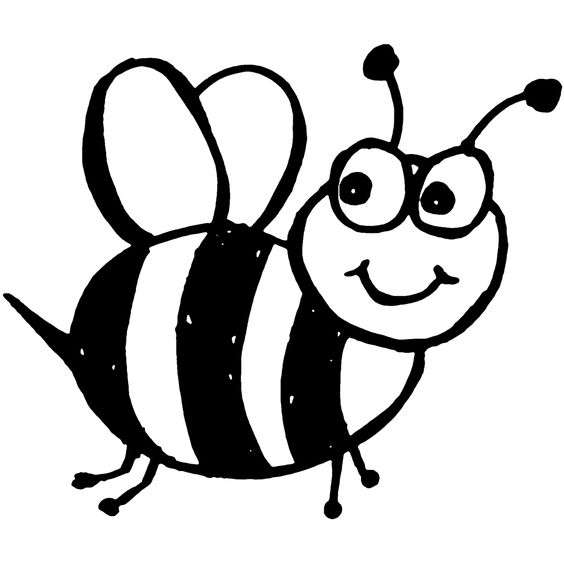 bee outline clipart #18