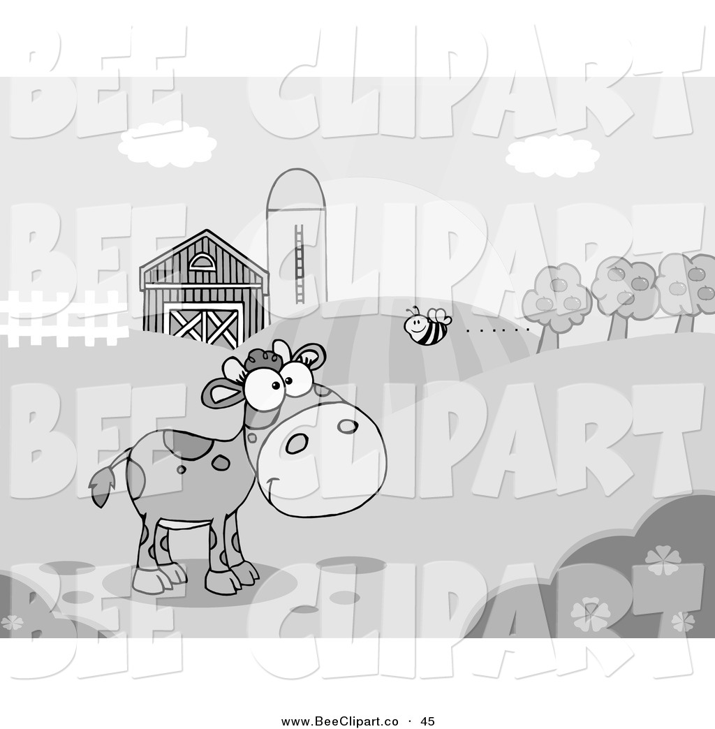 Royalty Free Cow Stock Bee Designs.