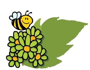 Collecting Pollen Bees Clip Art.