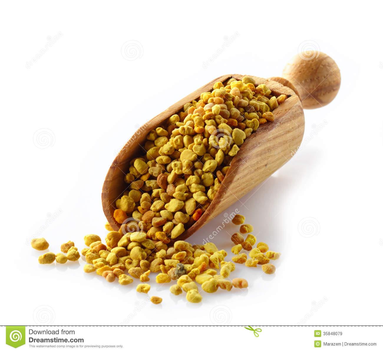 Bee Pollen Stock Photo.