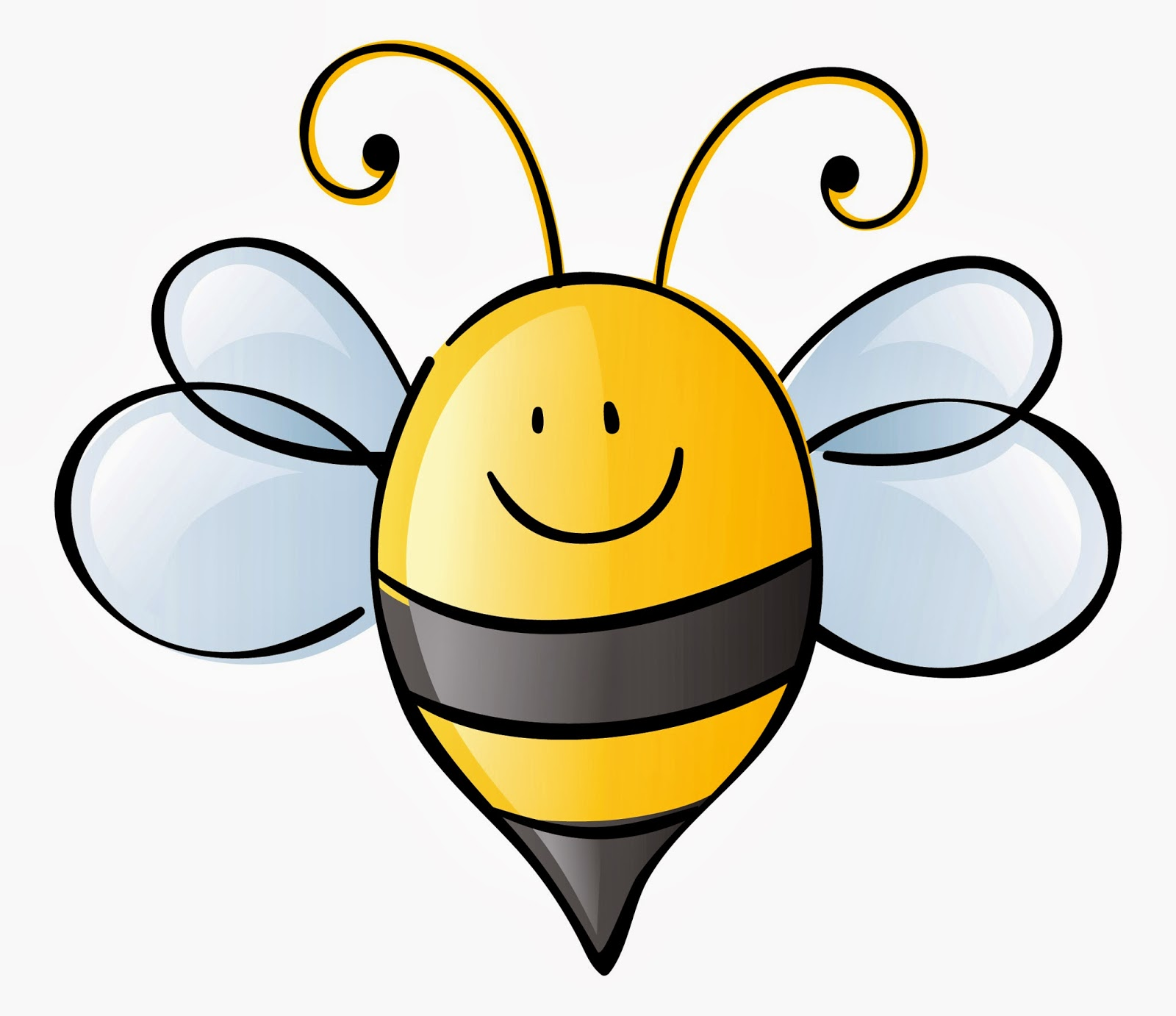 Bee Reading Clipart.