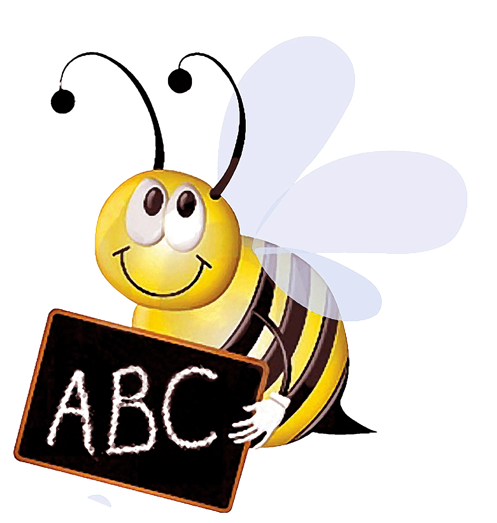 Teacher bee second grade clipart.
