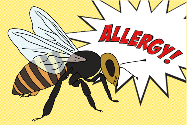 Insect sting allergies.