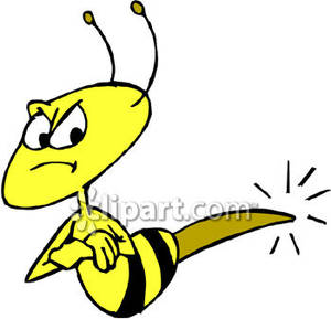 Bee sting clipart.